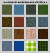 Seamless pattern pack — Stock Photo