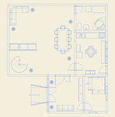 Building blueprints — Vector de stock