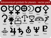 Planet symbols — Stock Vector