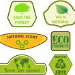 Eco labels set — Stock Vector