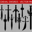 Royalty-Free Stock Vector Image: Medieval swords