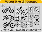 Vector bike silhouettes — Stock Vector