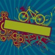Royalty-Free Stock Vector Image: Floral bike banner