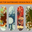 Skateboard design pack 10 — Stock Vector