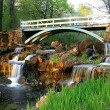Bridge and waterfall - Stock Photo