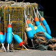 Lobster cage buoys — Stock Photo