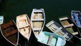 гребные лодки — Стоковое фото