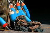 Buoys and rope — Stock Photo