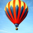 Foto Stock: Red blue and yellow balloon