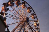 Morning ferris wheel — Stock Photo