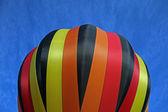 żółty czarny czerwony balon paski — Zdjęcie stockowe