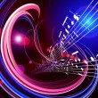 Dynamic Music Abstract — Stock Photo