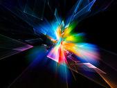 Resumen de las partículas de movimiento — Foto de Stock