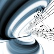 Dynamic Music Abstract - Stock Photo