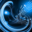 Dynamic Music Abstract — Stockfoto
