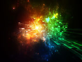 Motion Particles Abstract — Stock Photo