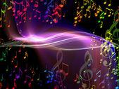 Anstract-musik-background — Stockfoto