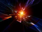 Movimento astratto di particelle — Foto Stock