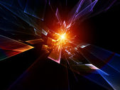 Ruch cząstek streszczenie — Zdjęcie stockowe