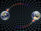 Earth on Grid — Stock Photo