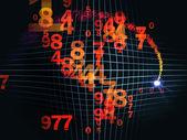 Numery na siatce — Zdjęcie stockowe