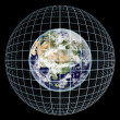Earth on Grid - Stock Photo