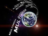 Multimedia Planet — Stock Photo