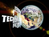 Technologie aarde — Stockfoto