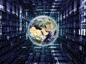Digital Earth — Stock Photo