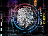 Fingerprint Access — Stock Photo