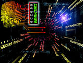Fingerprint Access — Stock Photo