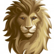 Lion. Mask or icon — Stock Photo