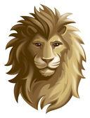 Lion. Mask or icon — Stock Photo