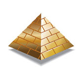 Gold piramid — Stock Photo