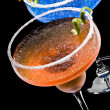 Stock Photo: Cobalt and Peach Margarita