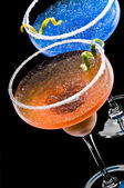 Cobalt and Peach Margarita — Stock Photo