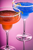 Orange Cobalt Margarita — Stock Photo