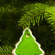 Tree shape short bread cookie - Stock Photo