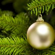 Foto Stock: Ball shape Christmas tree decoration