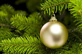 Ball shape Christmas tree decoration — Stock Photo
