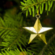 Star shape Christmas tree decoration — Stock Photo