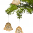 Tree bell shape cookies as Christmas tree decoration — Zdjęcie stockowe