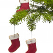 Tree present sock shape cookies as Christmas tree decoration — Foto de stock #6224633
