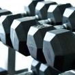 Weights of gym diffrent sizes and weights — Stock Photo #6388438