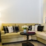 Contemporary sofa seating area — Stock Photo #6682205