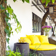 Outside lounge arenice framed with plants — ストック写真 #6683947