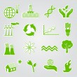 Green ecology icons — Stock Photo