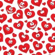 Seamless hearts background — Stock Photo