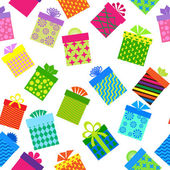 Seamleess background of gift boxes — Stock Photo