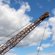 Stock Photo: Silhouette of crane boom.
